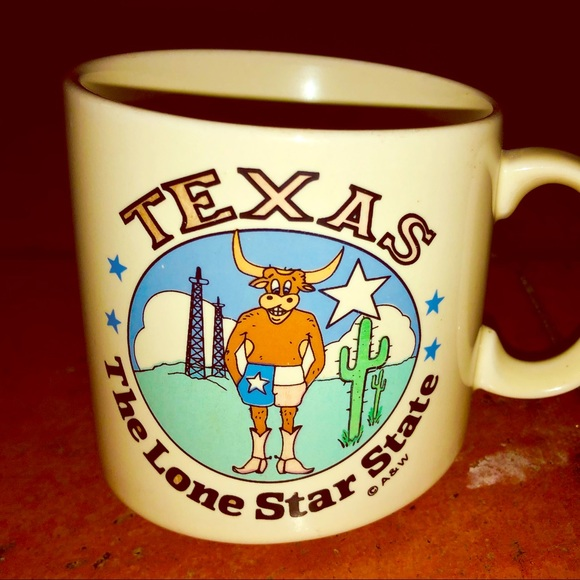 """Vintage Other - Vintage """"Texas -The Lonestar State"""" 8oz coffee cup"""